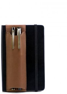 Double-Pen Quiver for Moleskin (they also have Quivers for iPad!)