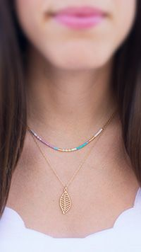 Dainty seed bead layered necklace. www.continentalbeadsuppliers.com