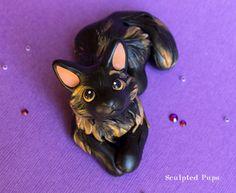 Smudge cat sculpture commission by SculptedPups.deviantart.com on @DeviantArt