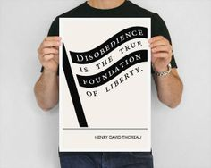 Henry David Thoreau Quote, Fine Art Prints from Obvious State