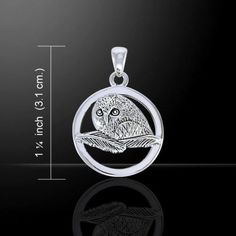 OWL Pendant .925 Sterling Silver Owl Spirit Magick Night Eagle Moon Owl Medicine