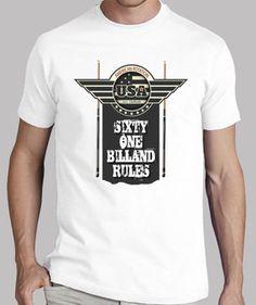 AMERICAN ROTATION BILLAND camiseta de billar y diseños divertidos de todas las modalidades del pool, vista mi tienda www.8tacadas.es