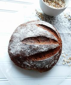 """maple molasses oatmeal boule. """"no lie - this recipe i am going to share with you makes the absolute best tasting bread seriously. the. best. tasting. bread.ever. pure nh maple syrup, molasses and freshly ground multi grain oats are the ingredients that make this bread so amazingly good."""" from sundaymorningbananapancakes.blogspot.com"""