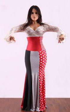 Falda flamenco patchwork.  By tate