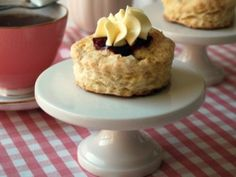 Sugar Scones with Whipped Butter Rosettes #BabyShower