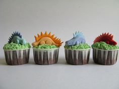 Dinosaur Birthday Cupcakes by Sylvia Chan - A Baked Creation
