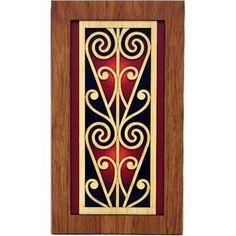 This Maori Koru Rimu Wall Panel is a beautiful contemporary example of art. Made from New Zealand native rimu veneer, the panel measures approximately. Maori Patterns, Polynesian Art, Maori Designs, New Zealand Art, Nz Art, Examples Of Art, Maori Art, Kiwiana, Art Carved