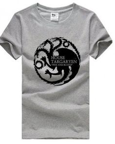 Game of Thrones cotton tee shirt for men plus size House Targaryen Fire and Blood short sleeve tshirt