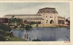 日據時期---台南西市場明信片