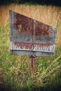rustic signage | Mark Elkins #wedding