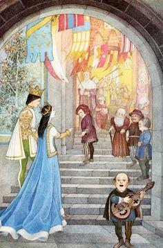 çizgili masallar: Snow White and the Seven Dwarfs by Nancy Ekholm Burkert Brothers Grimm Fairy Tales, Vintage Fairies, Seven Dwarfs, Fairytale Art, Beautiful Fairies, Fairy Land, Fairy Dust, Children's Book Illustration, Book Illustrations