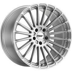 20x8.5 Silver Wheel TSW Turbina 5x4.25 40