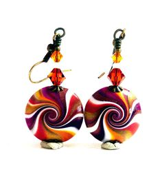 Hey, I found this really awesome Etsy listing at https://www.etsy.com/uk/listing/199153985/autumn-swirl-earrings-orange-gold