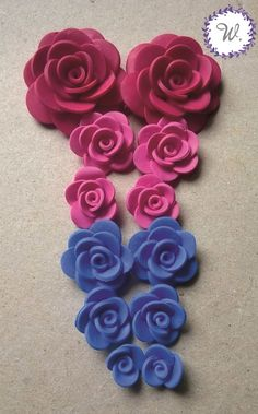 Polymer clay rose of different colors