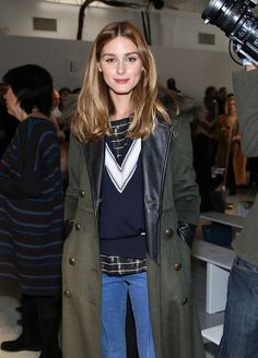 Olivia Palermo attends the Misha Nonoo fashion show during Mercedes-Benz Fashion Week Fall 2015 the at Center 548 on February 14, 2015 in New York City.