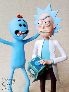 Rick and mr. Meeseeks figurines Rick and Morty figurine Rick Sanchez figurine from Rick and Morty cartoon Rick figure Morty Figure