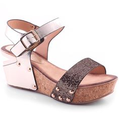 28e97e1b6860 Unze Womens 'Nisha' Wedge Glittering Evening Sandals - 5D0720-26F