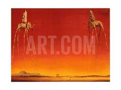 The Elephants, c.1948 Art Print by Salvador Dalí at Art.com