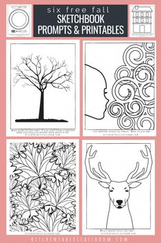Sketchbook prompts are an easy way to give kids a place to start drawing.Don't be overwhelmed by a blank page. Check out these free printables for fall now!