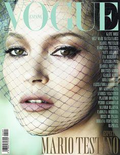 Kate Moss. Vogue Spain, December 2012.