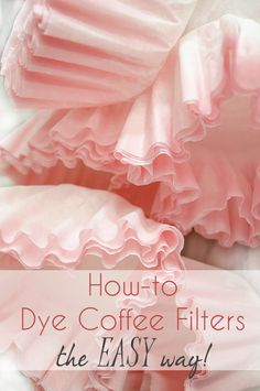 Bella Storia: How to Dye Coffee Filters the EASY Way! Stickers napkins party hats wrapping paper everything you need to throw a or retro party! And everything you need for your vintage style DIY project! Tissue Paper Flowers, Paper Roses, Felt Flowers, Diy Flowers, Fabric Flowers, Paper Flower Centerpieces, Potted Flowers, Exotic Flowers, Flowers Garden