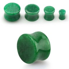 Plug para piercing de oreja. Hechas de Jade. Varios tamaños. Dilatador. 100% material natural. Ideal para tu piercing de oreja. Dilatación. Mineral , 3.38