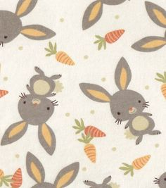 Snuggle Flannel Fabric- Bunnies