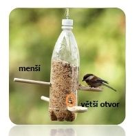 krmítko z PET láhve