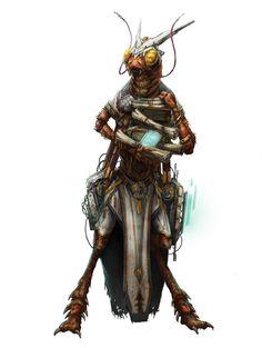 #Starfinder Cha'lak the shirren scholar mystic