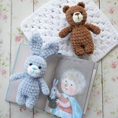 Crochet bear and bunny amigurumi