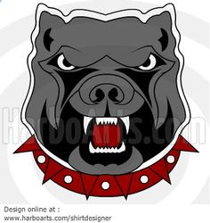 Angry Bulldog - DOWNLOAD - Vector Graphic >> http://harboarts.com/artwork/bulldog-angry-head-mascot-vector-graphics_template_1409042403715D8I/ #bulldogs #illustration #cliparts #dogs #security‬