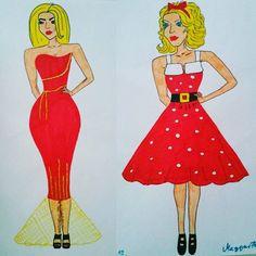 More than one year ago... #red #blonde #blondiegilr #fashion #moda #mode #design #designer #fashiondesign #fashiondesigner #illustration #fashionillustration #style #stylist