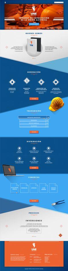 Diseño y Maquetación de la Página Web de Capacitación de la UNE.