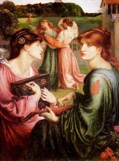 Dante Gabriel Rossetti ~ The Bower Meadow ~ Manchester Art Gallery ~ 1871-1872 Models: Marie Spartali Stillman (left) and Alexa Wilding (ri...