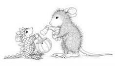 house mouse stamps halloween
