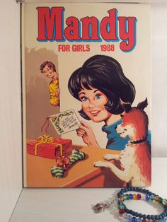 Mandy For Girls Annual 1988 126 Pages of Eighties by RetroLoaf, Comics Girls, Dundee, The Good Old Days, Journalism, School Days, Childhood Memories, Tv, Handmade Gifts, Books
