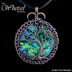 This tree of life necklace pendant was hand wrapped in pure copper wire. To accentuate and accent the wrapped wire, I applied an antiqued finish. You will receive the exact, unique, one of a kind handmade wire wrapped pendant shown in the photos. The focal in the center is an orgonite cabochon