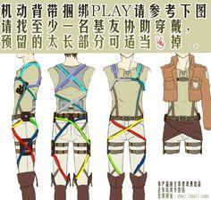 Attack On Titan Belt Pattern   Re: Attack on Titan Cosplay Belts?