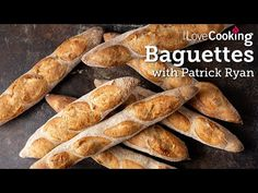 Baguettes Masterclass with Patrick Ryan - ILoveCooking Sourdough Recipes, Bread Recipes, Sourdough Bread, Low Sodium Snacks, Cheese Twists, French Bakery, Easy Bread, Ryan Youtube, Dry Yeast
