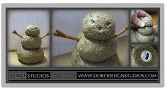 Snowman Sculpture - Recently Updated Listing: Limited Edition Medium Sized Snowman Sculpture  - Hand-Sculpted Concrete Decor https://www.etsy.com/listing/214405574/snowman-limited-edition-hand-sculpted