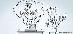 Księgowi w chmurach  W warunkach wciąż zaostrzającej się konkurencji firmy coraz częściej decydują się na oddanie obsługi rachunkowej specjalistom. Takie rozwiązanie pozwala skupić się na prowadzeniu biznesu. Rynek jednak się ciągle się zmienia, obsługa księgowa jest już częścią chmury, a bieganie do biura ze stosem papierów staje się przeszłością.