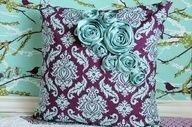 Tan fabric with patterned flowers? Essentially, the pictured pillow in reverse