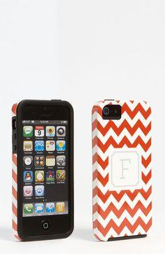 Monogrammed Chevron iPhone 5 Case :: fun stocking stuffer!