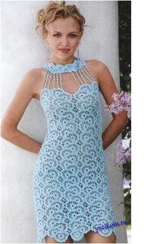 dress crochet patterns | Crochet Pattern Wedding Dress