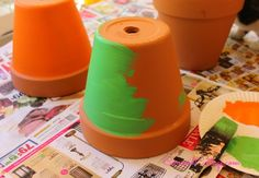 Hometalk :: How to Paint $1 Flower Pots and Add Color to Your Backyard #Easyupdate