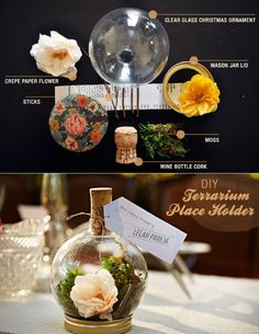 Inspiring Ideas For Adorable DIY Terrariums! Table Place Holder