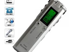 ($55.00) You can take it and use it wherever you want for its impact design With a digital voice recorder in hand, you will benefit its great function of recording sound files in the office, classroom or on-the-go. The 4GB DVR-126 USB Flash Digital Voice Recorder with MP3 Function Silver features super long time recording and playback, three general recording modes of LP/SP/HQ, and WAV format available. Not only a great voice recorder, but also telephone recorder (speaker phone is required)…