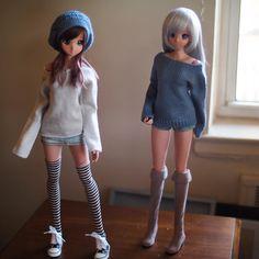 Smart Doll Ebony and Chitose Kasshoku by sapi3512