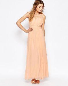 Image 4 ofVila Cinched Waist Maxi Dress