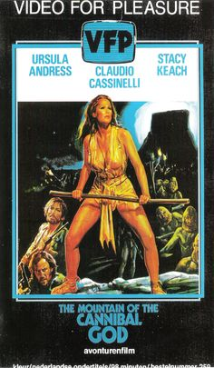 The Mountain of the Cannibal God aka La Montagne del Dio Cannibale (1978) #vhs #art #exploitation